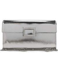 0e2330b62b Lyst - Roger Vivier Ines Metallic Small Pochette Bag in Pink