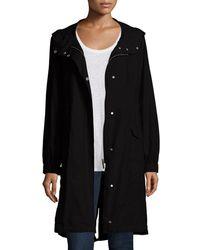 Eileen Fisher - Plus Size Hooded Long Anorak Jacket - Lyst