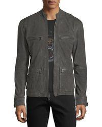 John Varvatos | Military Field Leather Racer Jacket | Lyst