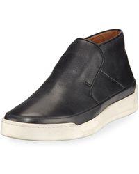 John Varvatos - Remy Leather Mid-top Slip-on Sneaker - Lyst