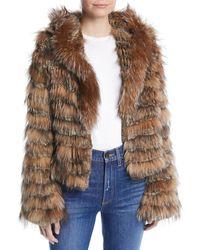 Alice + Olivia - Nadia Hooded Fur Coat - Lyst