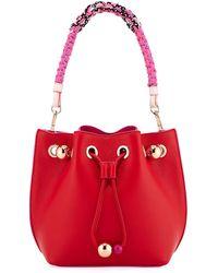 Sophia Webster - Romy Mini Bucket Bag With Woven Handle - Lyst