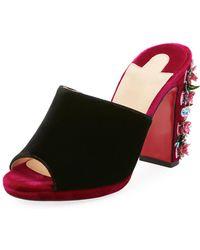 1f303346dec0 inexpensive christian louboutin cross me platform red sole sandal black  a0a22 03d69