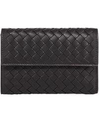 Bottega Veneta - Intrecciato Napa Tri-fold Wallet - Lyst