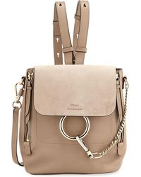 Chloé - Faye Small Leather/suede Backpack - Lyst