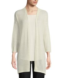 Eileen Fisher - Organic Linen/ Open Cardigan - Lyst