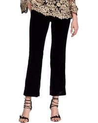 Marchesa - Cropped Tailored Velvet Suiting Pants - Lyst