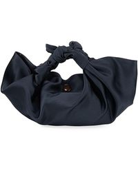 The Row - Women's Small Ascot Satin Hobo Bag - Maroon - Lyst