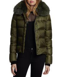 Dawn Levy - Vera Mid-weight Fox-fur Trim Puffer Jacket - Lyst