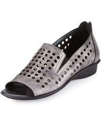 Sesto Meucci - Ellen Perforated Comfort Slip-on Flat - Lyst