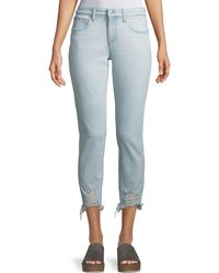 Joe's Jeans - The Smith Distressed Cropped Skinny Jeans - Lyst