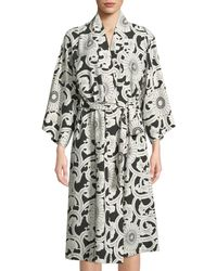 Natori - Silk Road Long-sleeve Robe - Lyst