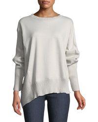 Neon Buddha - South Beach Pullover Sweater W/ Asymmetric Hem - Lyst
