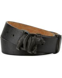 DSquared² - Bear-buckle Leather Belt - Lyst