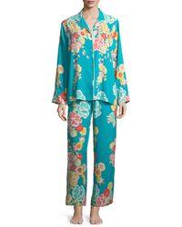 Natori - Saipan Satin Long Pajama Set - Lyst