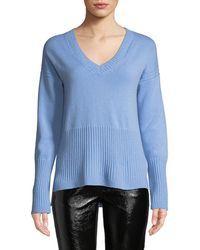 463bd01e1dd Lyst - Veronica Beard Canter Cashmere Turtleneck Sweater in Natural