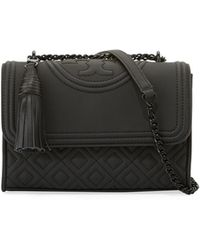 Tory Burch - Fleming Small Matte Leather Shoulder Bag - Lyst