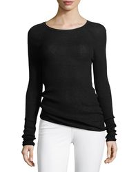 Elie Tahari - Carly Lightweight Ribbed Sweater - Lyst