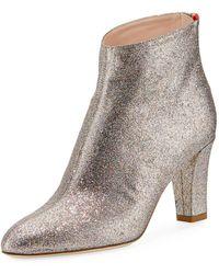 SJP by Sarah Jessica Parker - Minnie 75mm Sparkle Glitter Almond-toe Booties - Lyst
