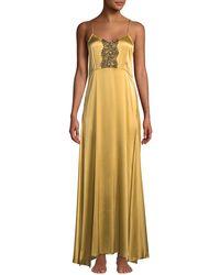 La Costa Del Algodón - Anthea Lace-trim Long Nightgown - Lyst