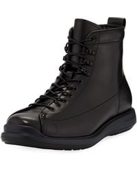 Giorgio Armani - Men's Milord Leather Lace-up Boots - Lyst