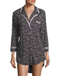 Cosabella - Bella Printed Long-sleeve Sleepshirt - Lyst
