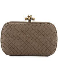 Bottega Veneta Intrecciato Medium Woven Clutch Bag in Natural - Lyst 1c5a6e9d80837
