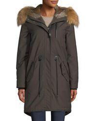 Mackage | Rena-wx Zip-front Parka Jacket W/ Fox Fur | Lyst