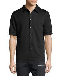 Helmut Lang - Button-placket Polo Shirt - Lyst