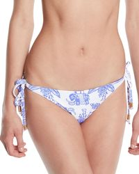 Letarte - Reversible Elephant/stripes Tie Bikini Bottom - Lyst
