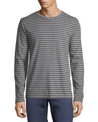 FRAME - Men's Long-sleeve Striped Cotton T-shirt - Lyst