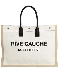Saint Laurent - Men's Noe Cabas Large Rive Gauche Canvas Tote Bag - Lyst