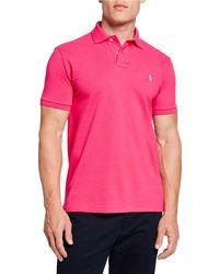 Ralph Lauren - Men's Logo-embroidered Polo Shirt Pink - Lyst