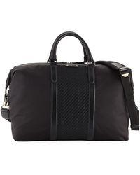Ermenegildo Zegna - Men's Pelle Tessuto-trim Weekender Bag - Lyst