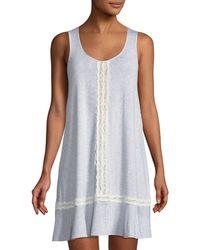Kate Spade - Lace-trim Sleeveless Sleepshirt - Lyst