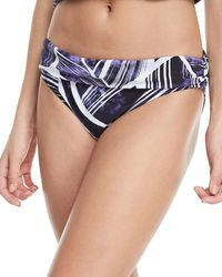 La Blanca - Bali Shirred Band Hipster Swim Bikini Bottoms - Lyst