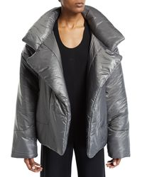 Norma Kamali - Sleeping Bag Open-front Puffer Coat - Lyst