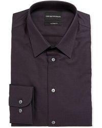 Emporio Armani - Men's Modern-fit Textured Cotton Dress Shirt - Lyst