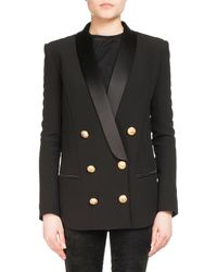Balmain - Double-breasted Wool-cashmere Tailored Pea Coat - Lyst
