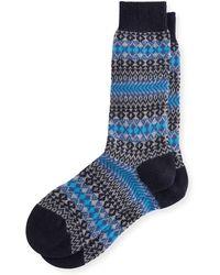 Pantherella - Mapperton Fair Isle Half-calf Socks - Lyst