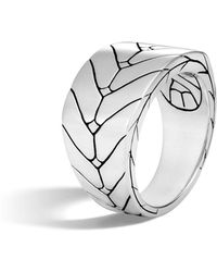John Hardy - Men's Modern Chain Sterling Silver Band Ring - Lyst