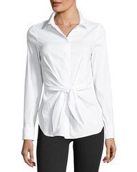 Bailey 44 | Shinto Tie-waist Poplin Shirt | Lyst