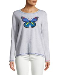 Lisa Todd - Butterfly Pullover Sweater W/ Contrast Stitching - Lyst