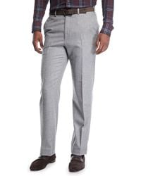 Brioni - Men's Flat-front Wool Trousers - Lyst