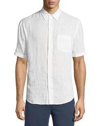 Vince - Washed Linen Short-sleeve Sport Shirt - Lyst