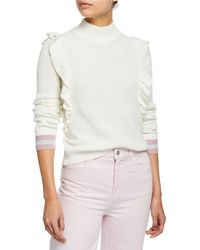 eac0d277461d22 Splendid - Amico Ruffled Turtleneck Pullover Sweater - Lyst