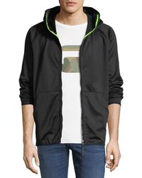 G-Star RAW - Strett Slim Zip-front Hooded Sweatshirt - Lyst