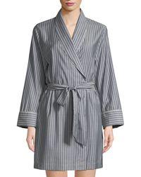 Morpho + Luna - Alix Striped Wool Short Robe - Lyst