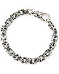 Konstantino - Men's Scroll Oval Link Bracelet - Lyst