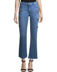 Etro - High-rise Straight-leg Jeans W/ Studs - Lyst